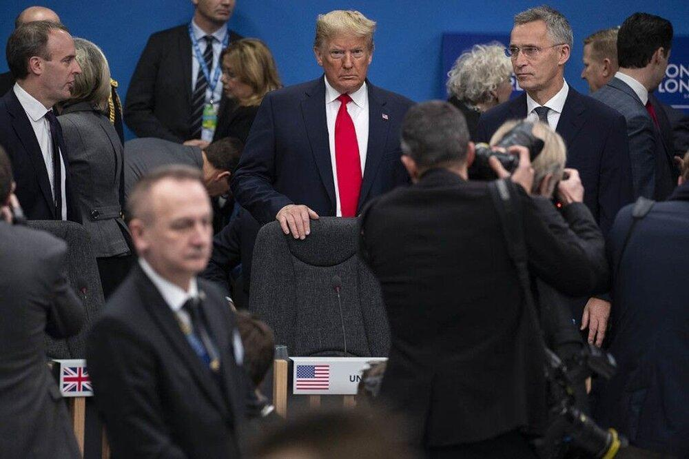 ترامپ کنفرانس مطبوعاتی پایانی نشست ناتو را لغو کرد