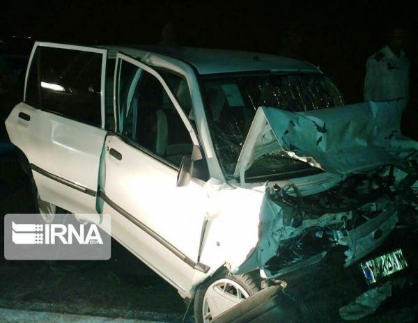 خبرنگاران واژگونی پراید در جاده حمیدیه پنج مصدوم برجا گذاشت